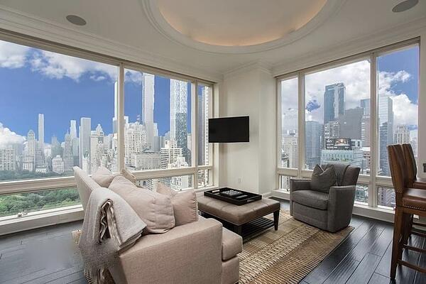 Prix de l'immobilier à Manhattan pour 1 Central Park West