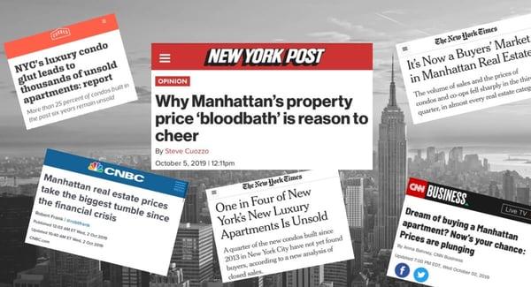 Ralentissement du marché des prix des appartements en copropriété à Manhattan